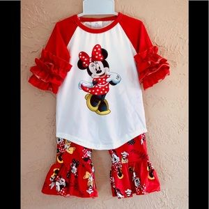 Minnie Mouse Ruffle Top & Pants 0/3 - 5/6